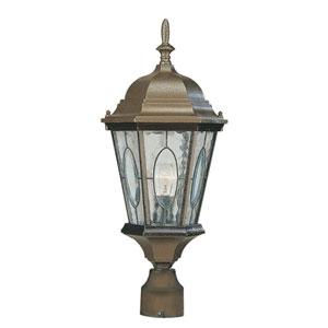 One-Light Brown Outdoor Post Light