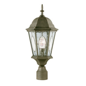 Watered Windows 22 Inch High Outdoor Post Top -Black Gold