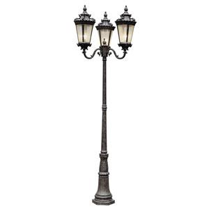 Roubaix Three Lantern Lamp Post -Patina