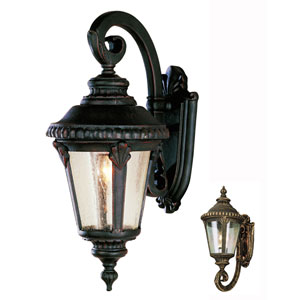 19 Inch High Outdoor Coach Light -Black Gold