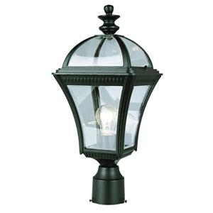 One-Light Black Large Outdoor Post Light