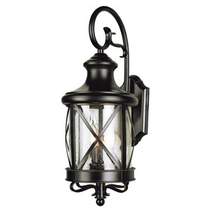 Two-Light Rubbed Oil Bronze Outdoor Wall Light