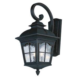 Chesapeake 25 Inch Outdoor Three-Light Wall Light Fixture -Black