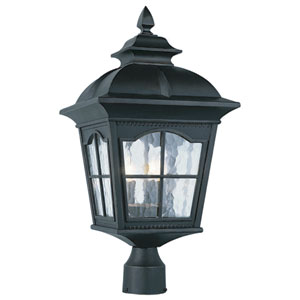 Chesapeake 25 Inch Four-Light Post Top Lantern -Black