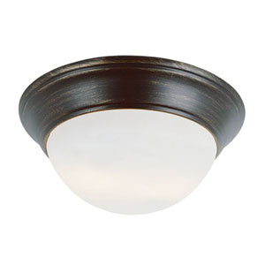 Rubbed Oil Bronze Two-Light 6-Inch Flush Mount
