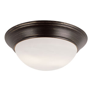 Rubbed Oil Bronze Two 6.5-Inch Light Flush Mount