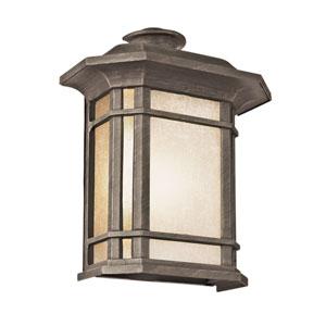 Corner Window 12 Inch High Pocket Light -Rust