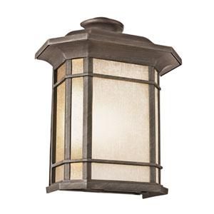 Corner Window 15 Inch High Pocket Light -Rust
