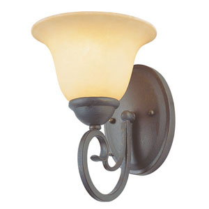New Century One-Light Antique Bronze Wall Sconce