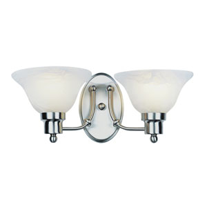 Contemporary Two-Light Brushed Nickel Sconce