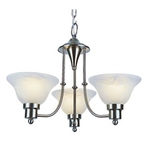 Payson Weathered Bronze 3 Light Chandelier with Alabaster Glass