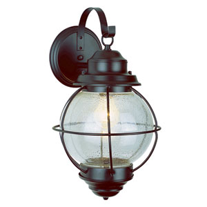 One-Light Black Small Onion Outdoor Wall Light