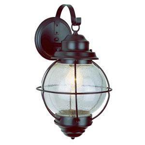 Onion Rustic Bronze Lantern Wall Mount 15-Inch with Clear Seeded Glass
