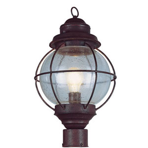 Hanging Rustic Bronze Onion Lantern 13-Inch with Clear Seeded Glass