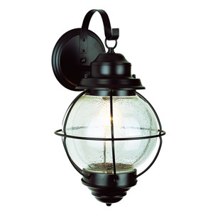 One-Light Black Large Onion Outdoor Wall Light
