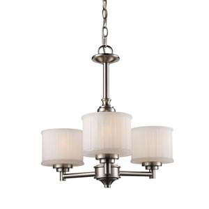 Cahill Brushed Nickel Three-Light Chandelier