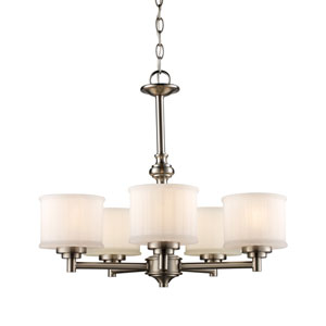 Cahill Brushed Nickel Five-Light Chandelier