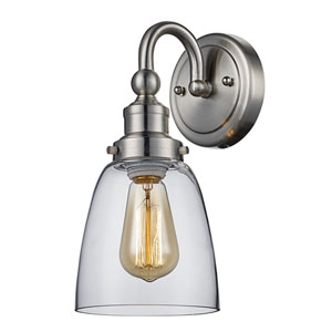 Jennifer Brushed Nickel One-Light Wall Sconce