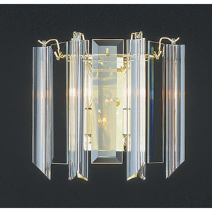 Back To Basics Two-Light Polished Brass Wall Sconce