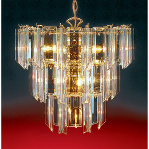 Back To Basics Ten-Light Polished Brass Chandelier