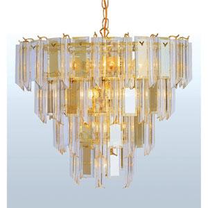Back to Basics Thirteen-Light Polished Brass Chandelier