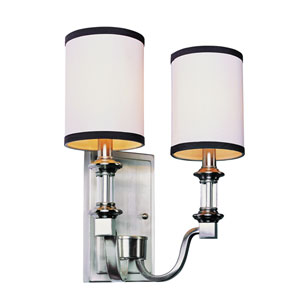 Brushed Nickel Two-Light Wall Sconce