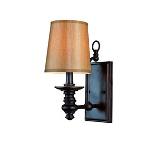 Modern Meets Traditional Rubbed Oil Bronze One-Light Wall Sconce