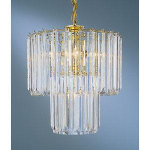Back To Basics Five-Light Polished Brass Acrylic Chandelier