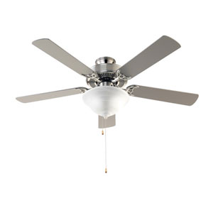Brushed Nickel 52-Inch Three-Light Ceiling Fan