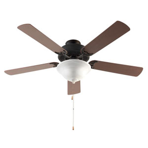 Rubbed Oil Bronze 52-Inch Three-Light Ceiling Fan