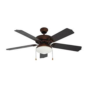Woodrow Oil Rubbed Bronze One-Light Fluorescent Ceiling Fan
