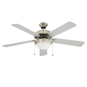 Westwood Brushed Nickel One-Light Fluorescent Ceiling Fan