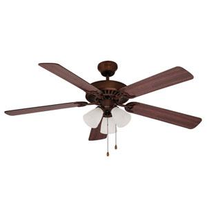 Rubbed Oil Bronze Three-Light 52-Inch Ceiling Fan