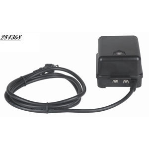 LED 12 Light Low Voltage Transformer -Black