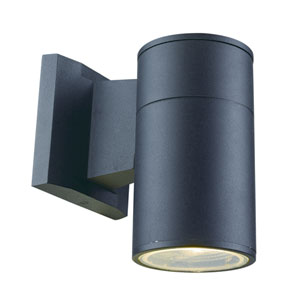 Compact Black LED Six-Inch Outdoor Wall Mount