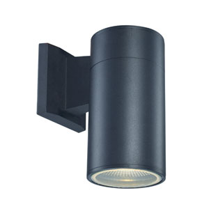 Compact Black LED Eight-Inch Outdoor Wall Mount