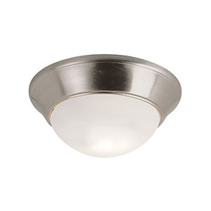 Bolton Brushed Nickel 12-Inch One-Light LED Flush Mount