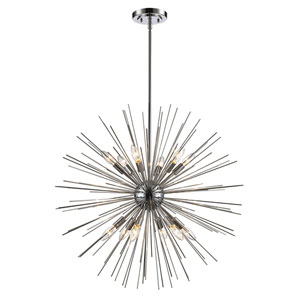 Collina Polished Chrome 12-Light Pendant