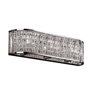 Polished Chrome Three-Light 18-Inch Wide Bath Bar