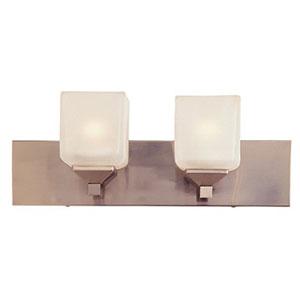 Edwards Pewter Two-Light Fluorescent Bath Vanity