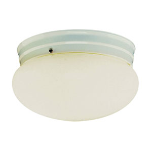 Energy Efficient Mushroom Ceiling Globe 10-Inch Wide in Nickel with Opal Glass