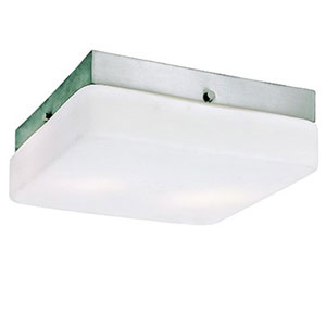 Cuvee Brushed Nickel Two-Light Fluorescent Flush Mount