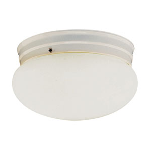 Energy Efficient Mushroom Ceiling Globe 10 Inch Wide -White