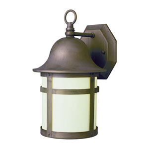 Pub 12 Inch High Outdoor Wall Light -Weathered Bronze