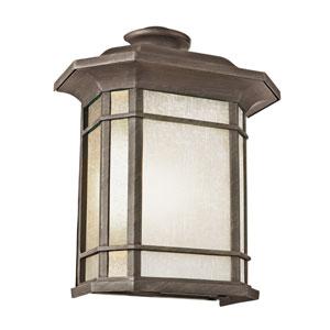 Corner Window 15 Inch Pocket Lantern In Rust