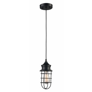 Rubbed Oil Bronze 12-Inch One-Light Pendant
