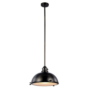 Weathered Bronze One-Light 17-Inch Wide Dome Pendant