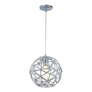Polished Chrome One-Light Adjustable Drop Pendant