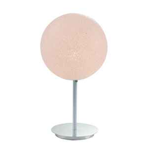 Polished Chrome Urban Crush Globe Lamp with Acrylic Graniglia, White, Globe