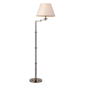 Polished Nickel One-Light Floor Lamp